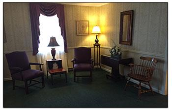 Sitting Room at Brookfield Funeral Home